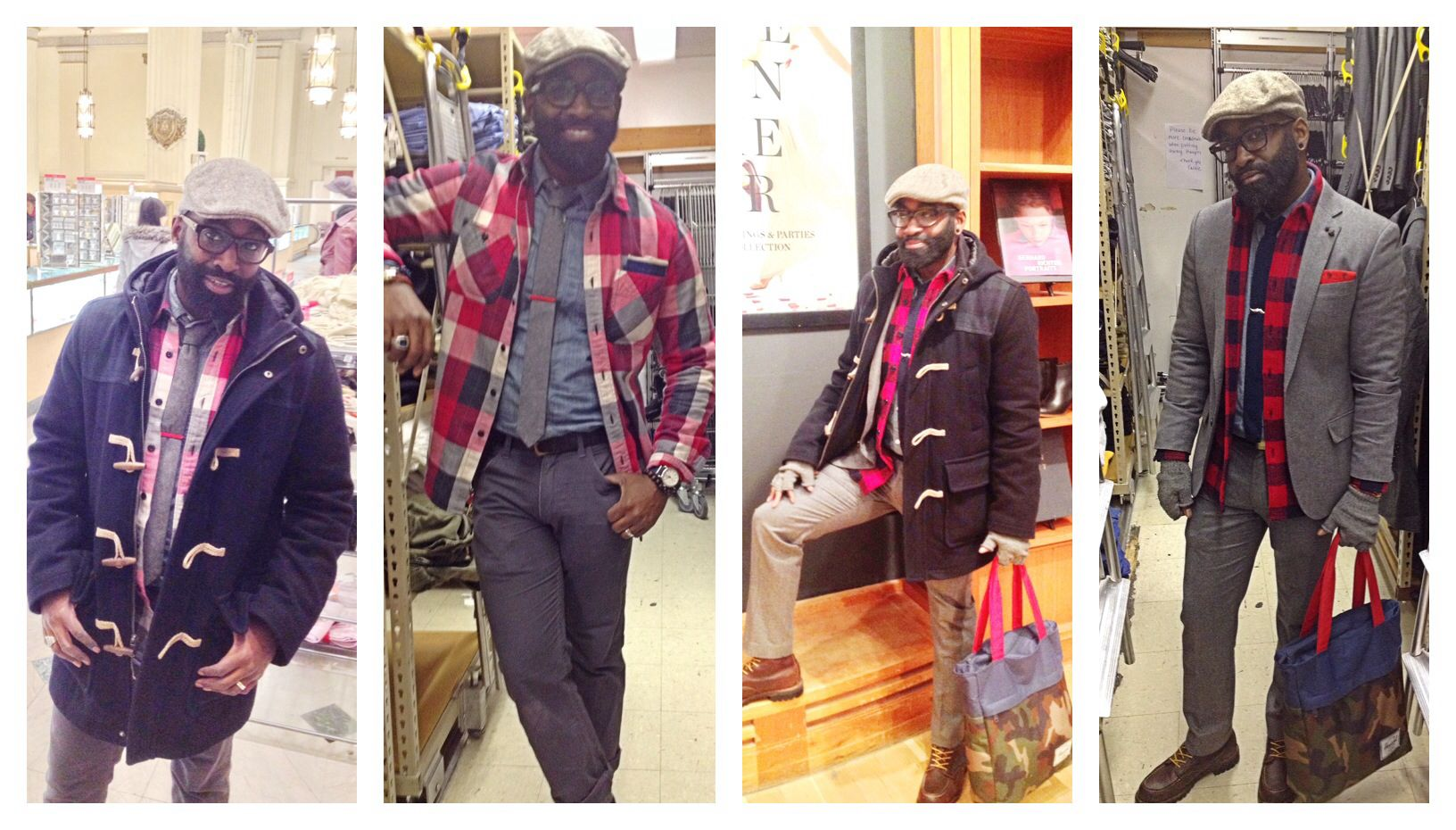 Winter has been brutal! Trying to stay stylish in it has been just as hard, but with the help of JCrew's Ludlow some Flannel, and some Redwings I trekked through!
