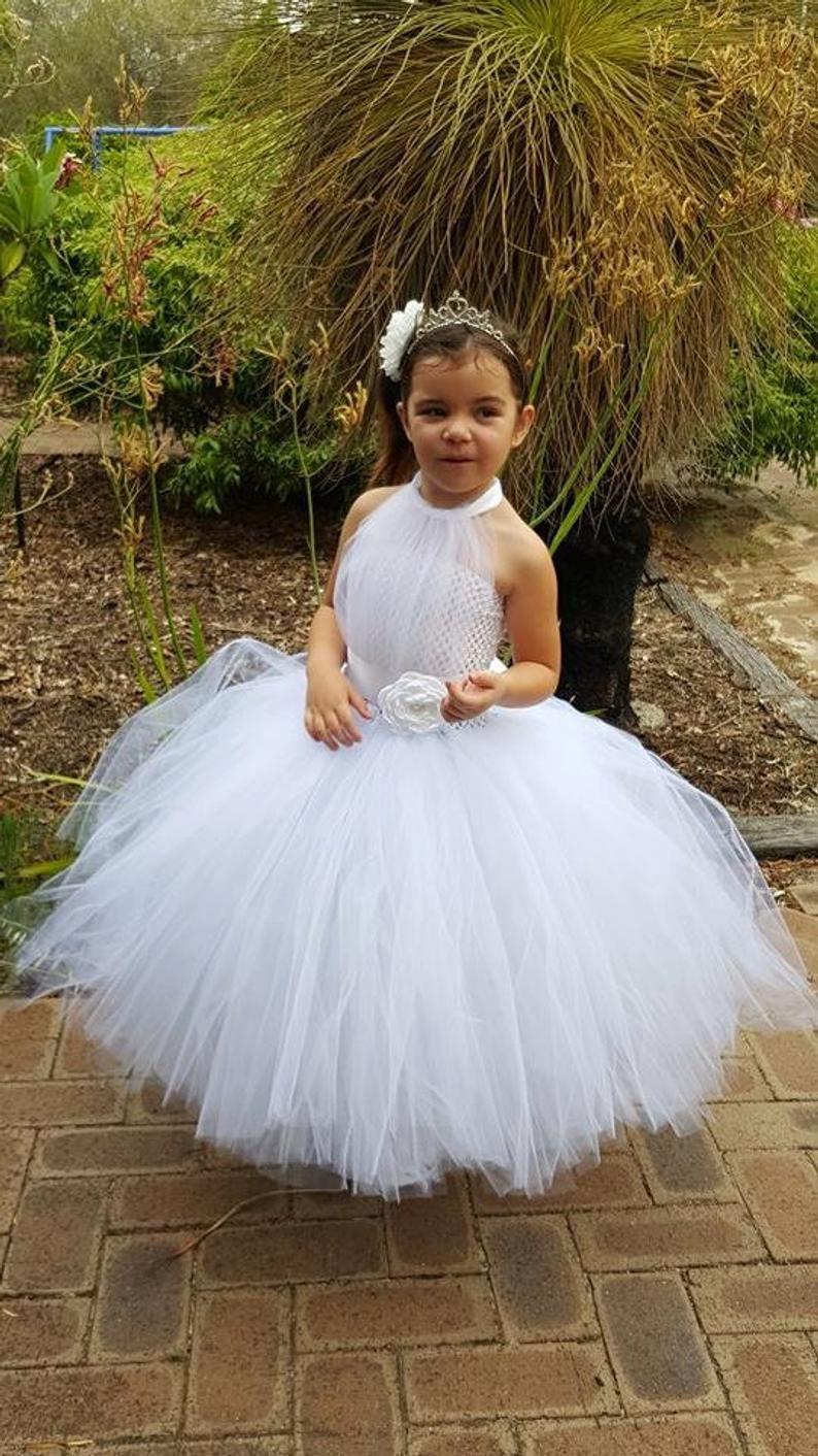 White Flower Girl Tutu Dress White Tutu Flower Girl Dress Etsy Flower Girl Dresses Tutu Flower Girl Tutu Flower Girl Dresses [ 1412 x 794 Pixel ]