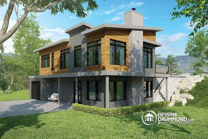 Plan de maison no W3990 de dessinsdrummond Design  More