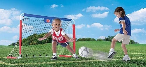Great Outdoor Fun For Kids Soccer Street Hockey Goal Set W Pitchback Net Comes With 1 Junior Soccer Ba Hockey Kids Soccer Goal Outdoor Fun For Kids