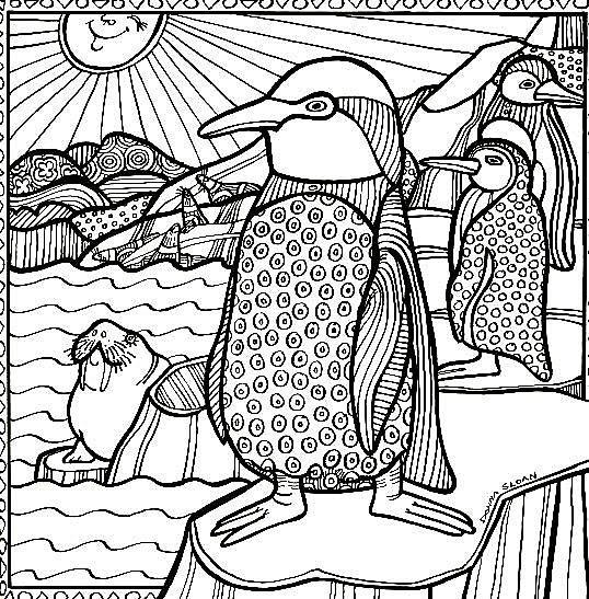 Penguins | Kids Coloring Pages | Pinterest | Colores, Bordado y Esquemas