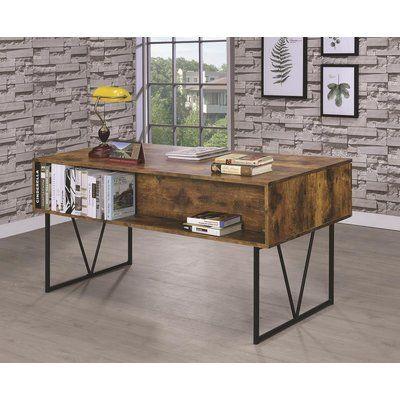 Brayden Studio Eveloe Desk Antique Writing Desk Modern Rustic Decor Furniture