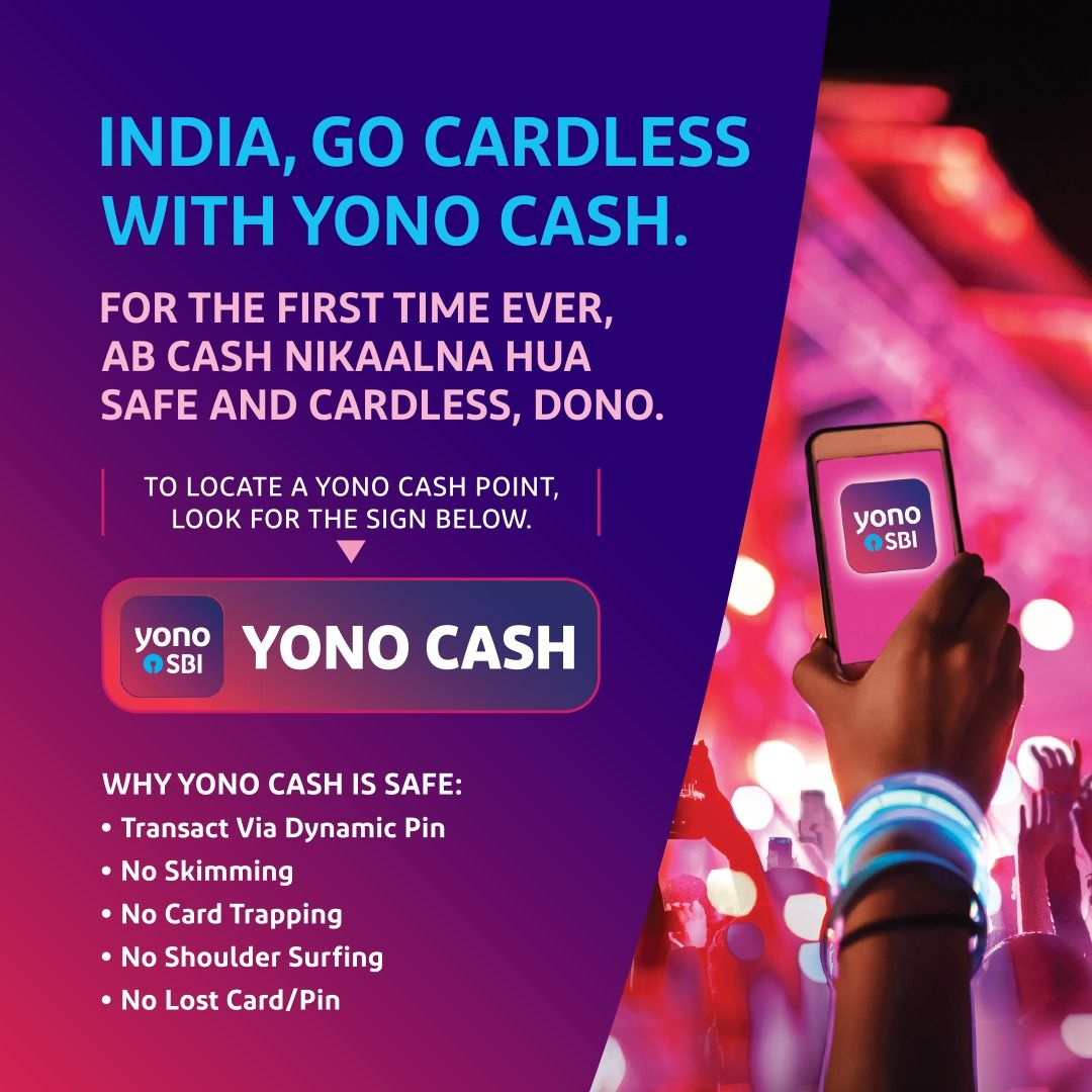 Say YO to YONO Cash! Go cardless with #YONOSBI and withdraw
