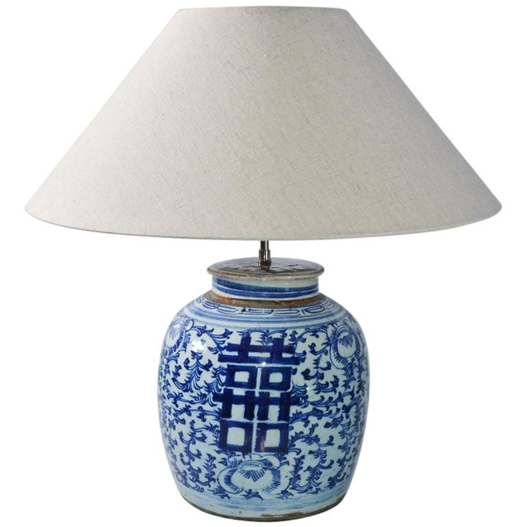 Chinese Blue And White Ginger Jar Lamp In 2019 Ginger Jar