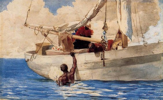 Winslow Homer The Coral Divers Watercolor: