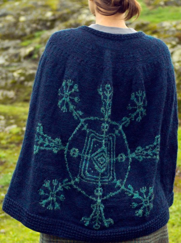 Knitting Pattern Cape Of Invisibility Ad The Stranded Colourwork