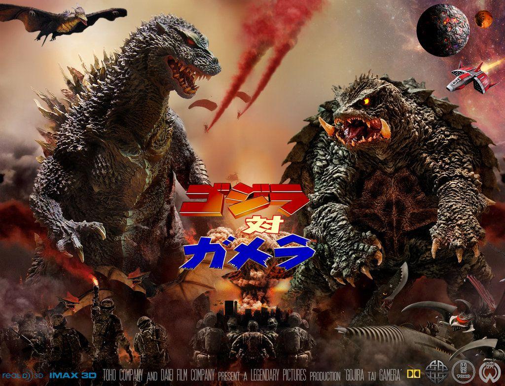 Godzilla Vs Gamera Movie Poster By Innocentovia Deviantart Com On