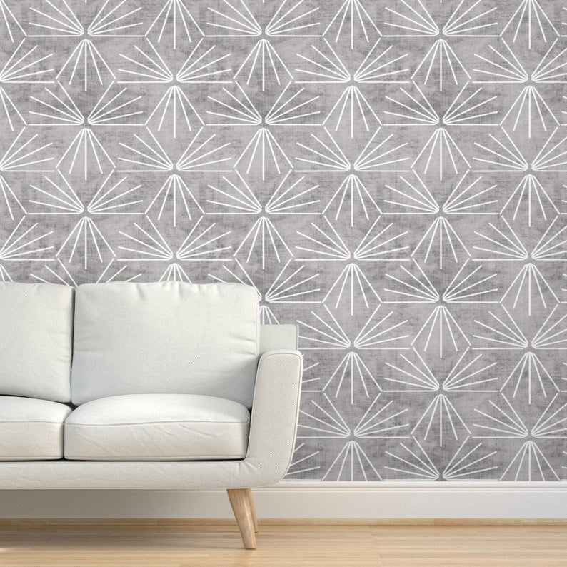 Texture Wallpaper Sun Tile Cement Light By Holli Zollinger Etsy In 2020 Textured Wallpaper Drawer And Shelf Liners Quick Decor