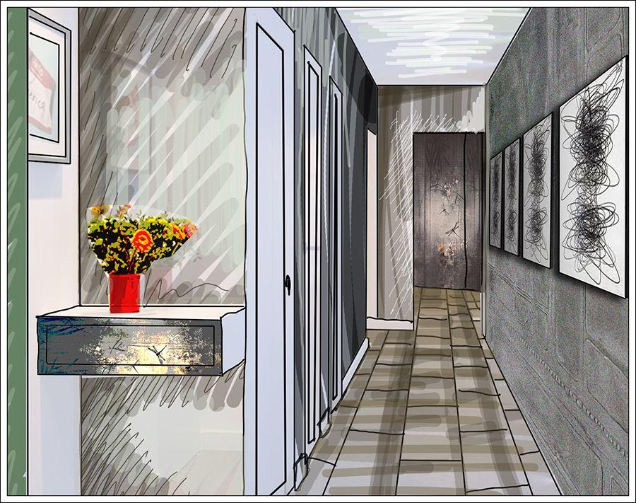 Corridoio Lungo Casa : Corridoio e quadri posizionare una serie di #quadri o altre #opere