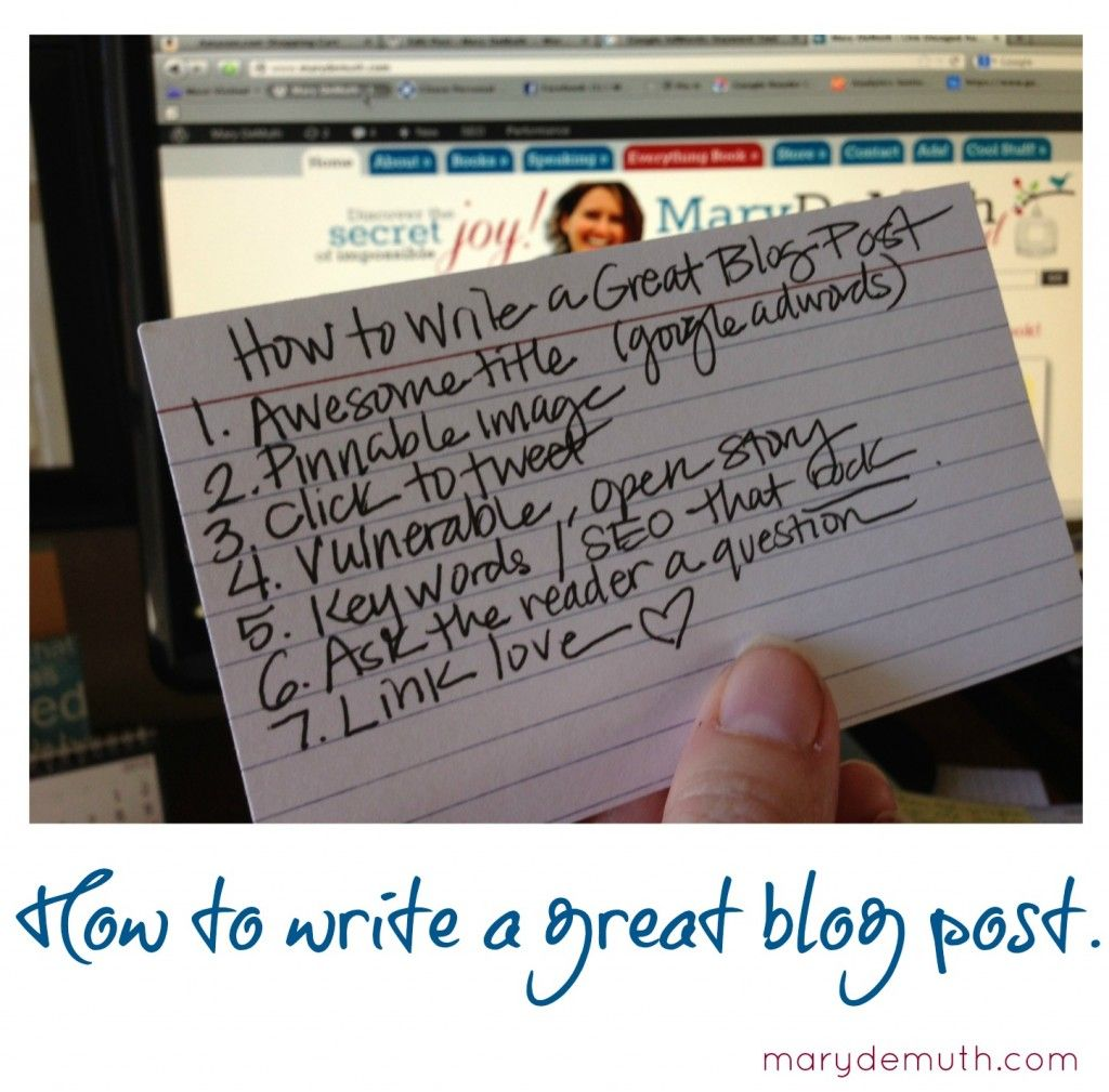 How to Write a Great Blog Post via @Mary Emily