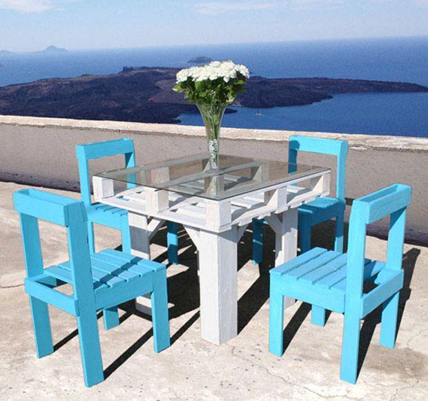 Još jedan zanimljiv projekt od paleta Stol i stolice za terasu