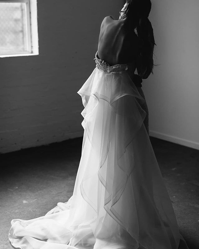 LOVING The Train Attachment For CARRIE Gown A Stunning Way To Add Drama Your Wedding Day Look Photographed By Kasrichards