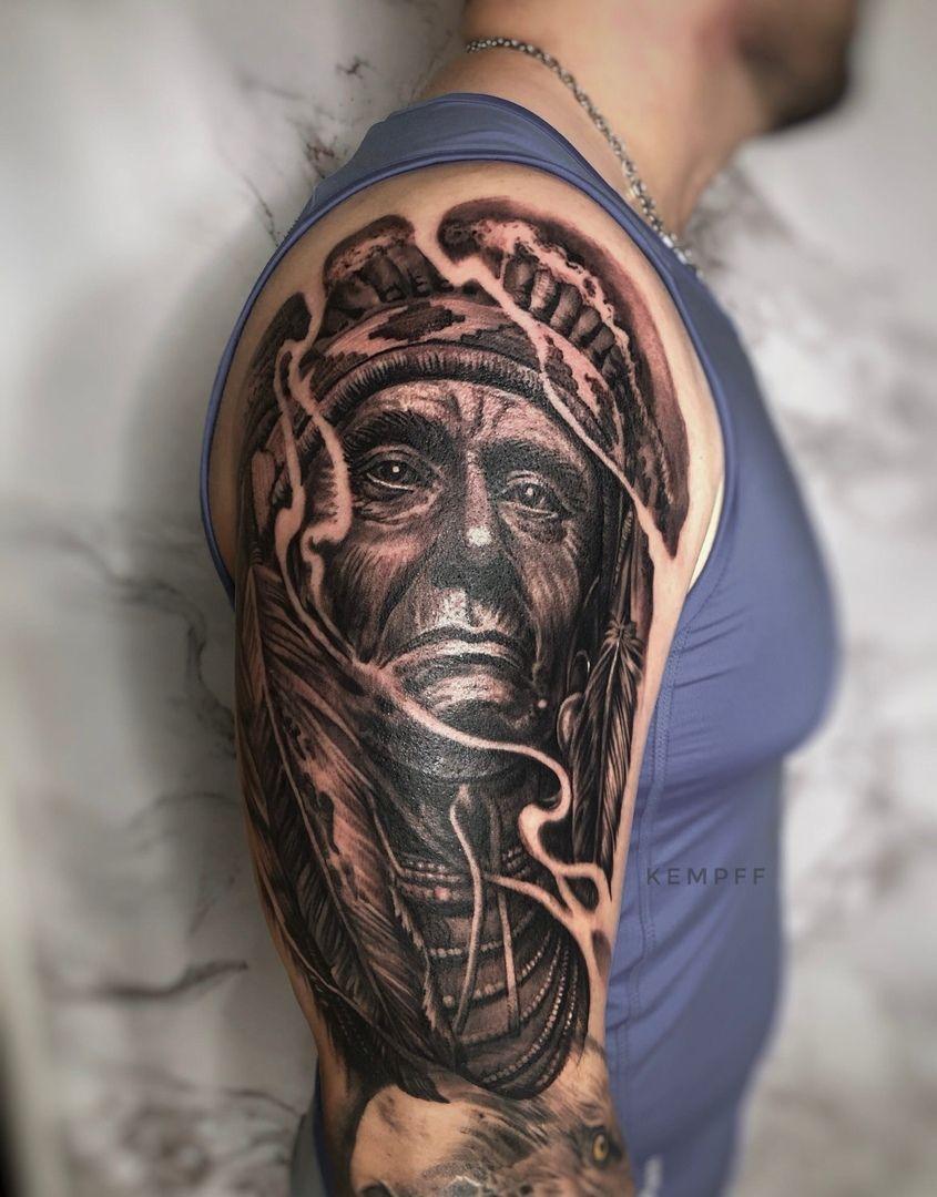 тату индеец | реализм тату | индеец тату | тату на плечо #realism #realistic #realismtattoo #realistictattoo #tattoorealism #tattoorealistic #tattoo #blacktattoo #tattooblack #татуировка #тату #татуреализм #реализмпортрет