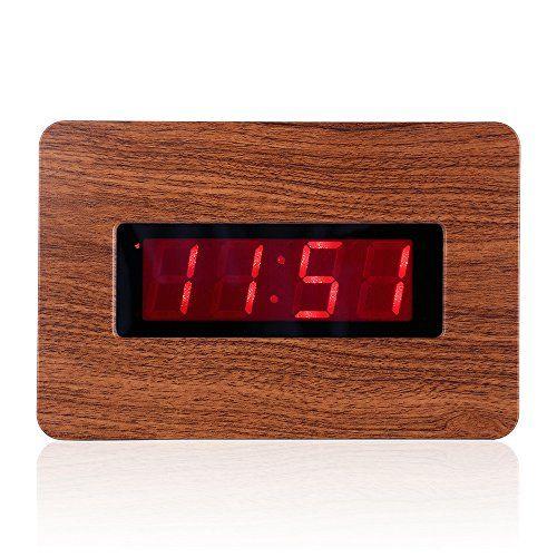Kwanwa Kawanwa Digital Wall Clock Large Display Battery Operated Alarm Snooze Supported For B Large Digital Wall Clock Clock Digital Wall