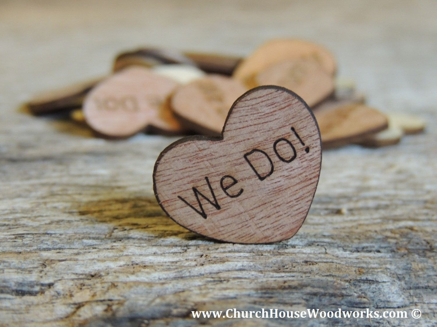 100 We Do 1 Wood Hearts Wood Confetti Engraved Love Hearts Rustic Wedding Decor Table Decoration Rustic Wedding Centerpieces Wooden Hearts