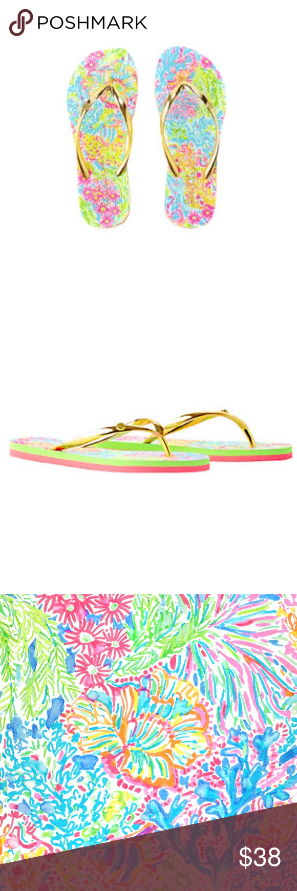 0191bf528 Lilly Pulitzer NWT Pool Flip Flop is Lovers Coral NWT Lilly Pulitzer Pool  Flip Flop is Lovers Coral. Never worn