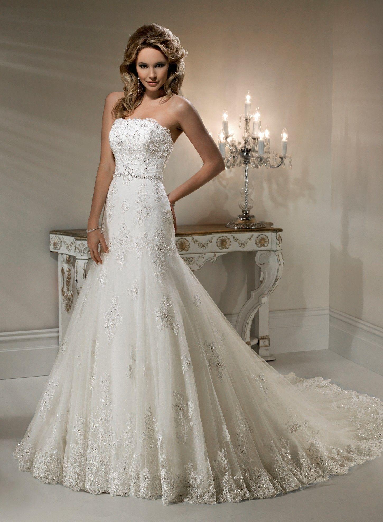 classic and elegant a line wedding dresses