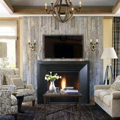 Wood Panel Fireplace Surround