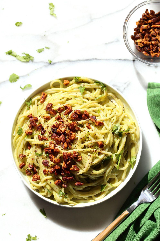 15 Minute Creamy Avocado Pasta Oh She Glows Food Processor Recipes Creamy Avocado Pasta Food