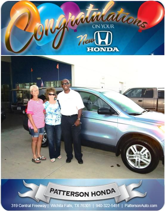 Congratulations Virgie And Debbie On Your New Honda Crv From Kevin A Francis At Patterson Honda New Honda Crv Honda Dealership New Honda