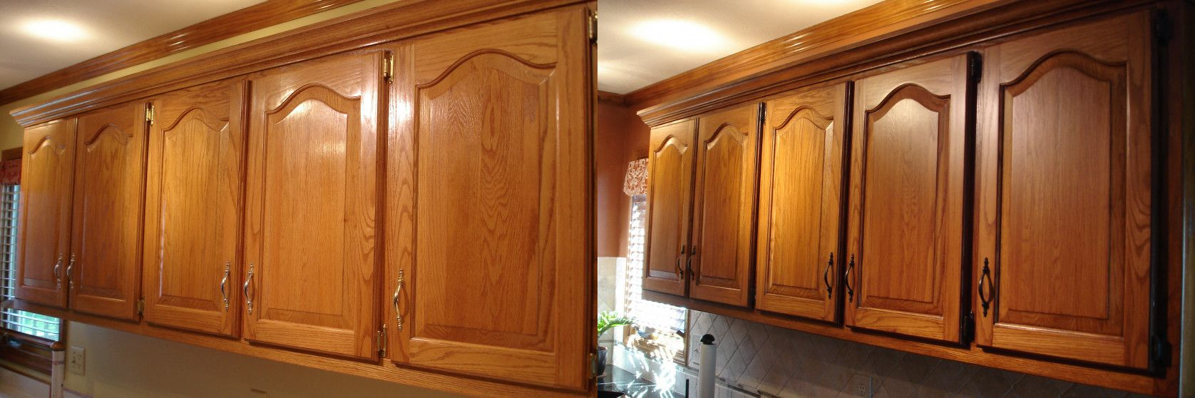 70+ Glazing Oak Cabinets before after - Kitchen Nook ...