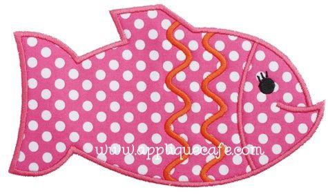 Girl Fish 2 Applique Design