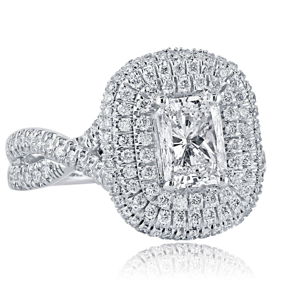 ct radiant cut diamond engagement ring infinity twisted k