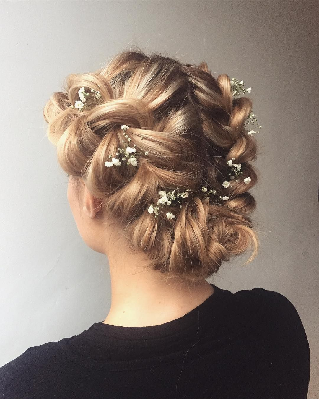 Bridal Crown Braid Hairstyle Textured Updo Updo Wedding Hairstyles Updo Hairstyles Messy Upd Braided Hairstyles Updo Dark Hair With Highlights Hot Hair Styles