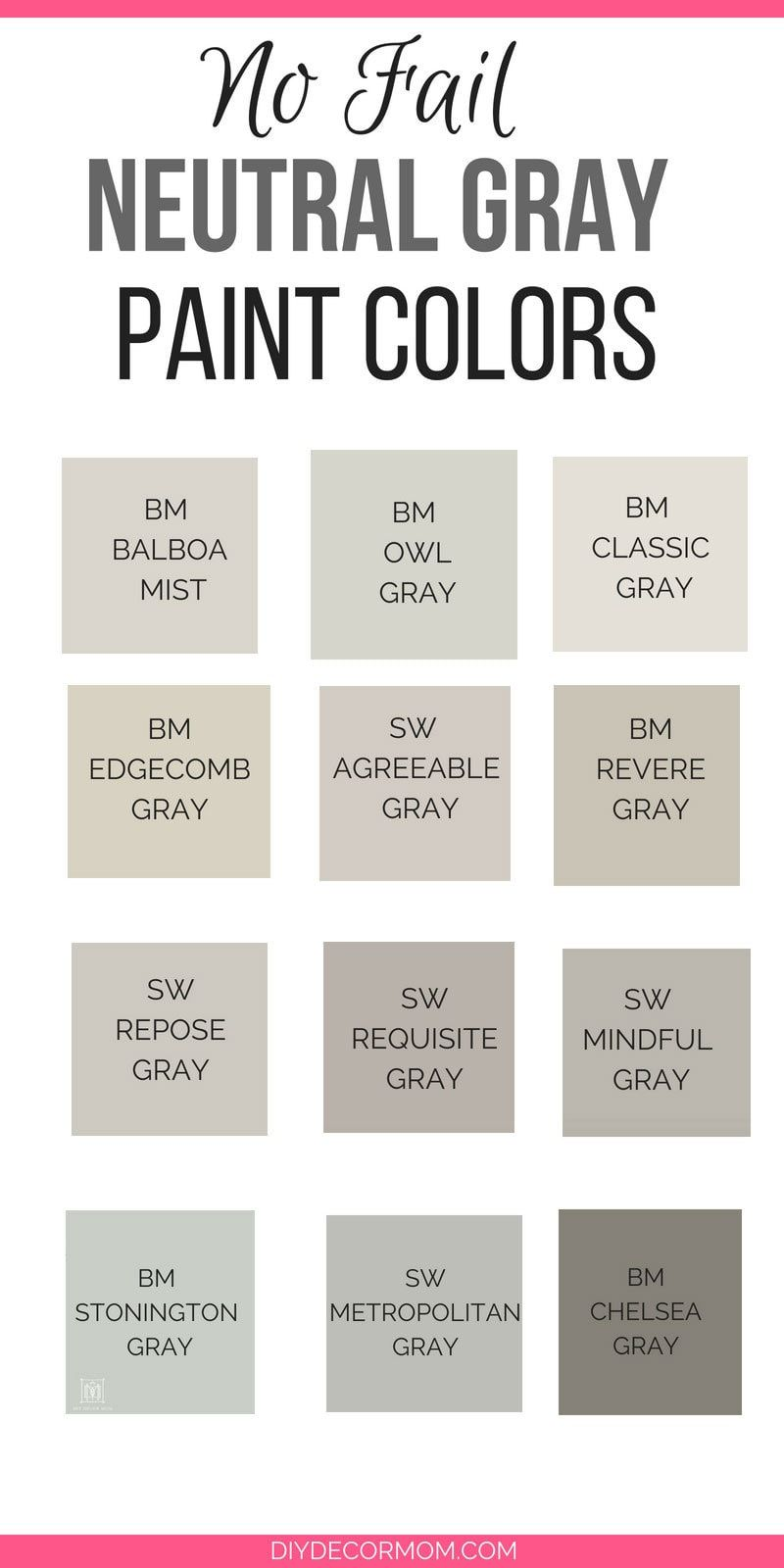 Need the best gray paint colors these light gray paint colors are