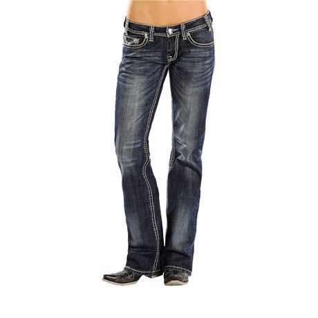 Rock & Roll Cowgirl Riding Jeans - Mid Rise, Bootcut (For Women))