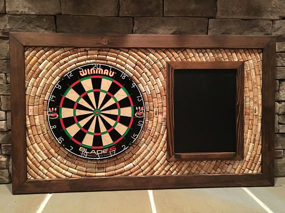 Made To Order Wine Cork Dartboard Backer With Scoreboard And
