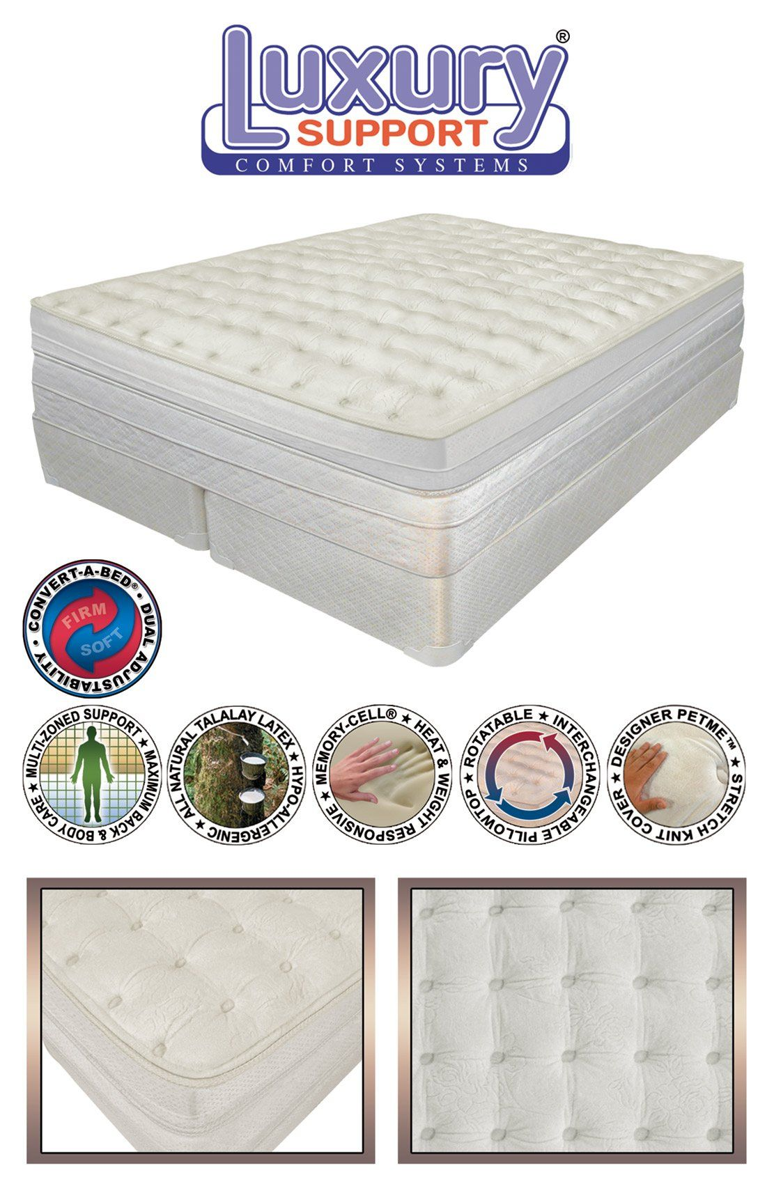 california king 15 innomax medallion adjustable sleep air bed set