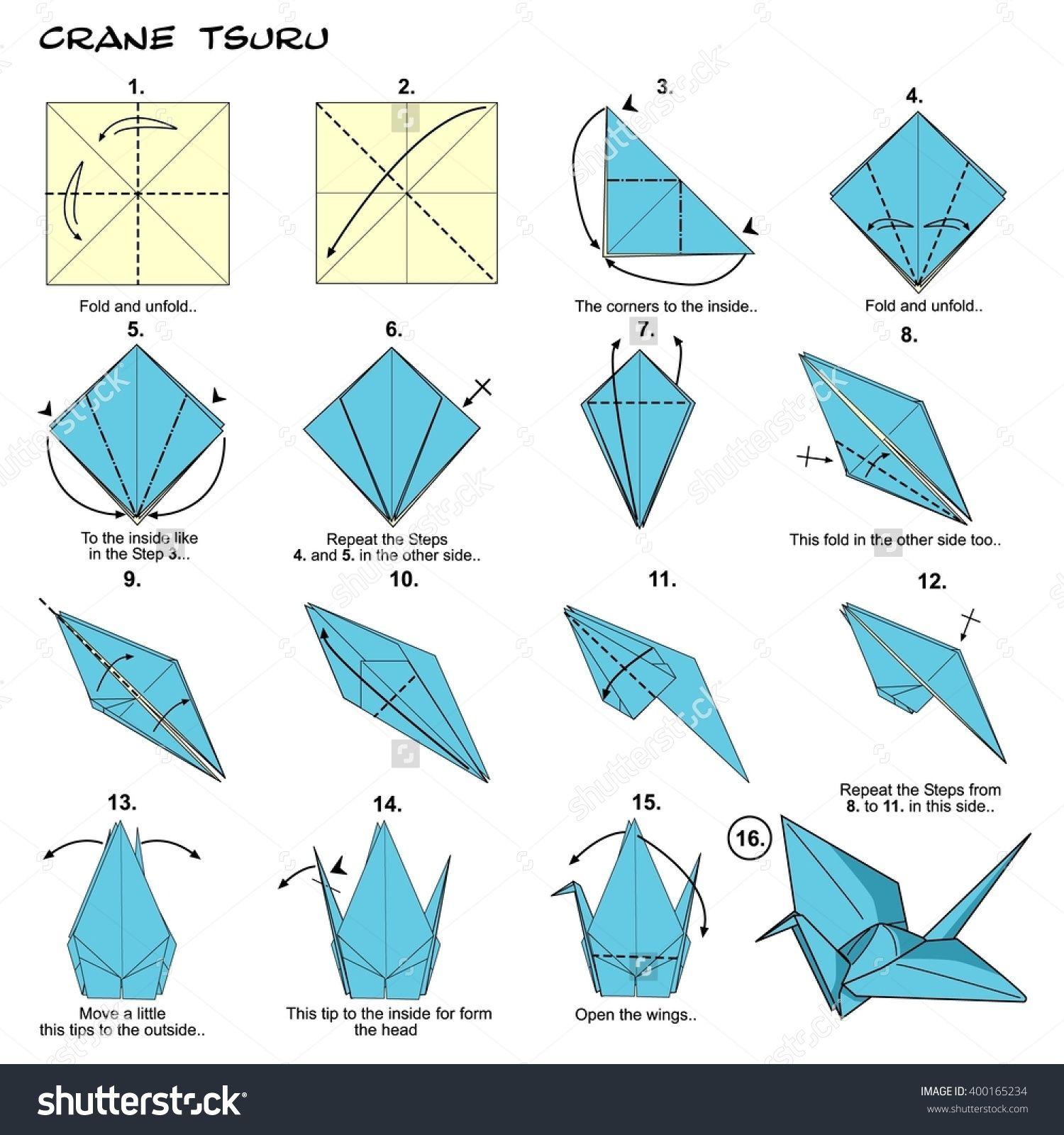 Origami step by step beautiful arts misc pinterest origami crane steps stock illustration shutterstock how to make a origami crane step by step how to make a origami crane out of gum wrapper pleasant how to jeuxipadfo Choice Image