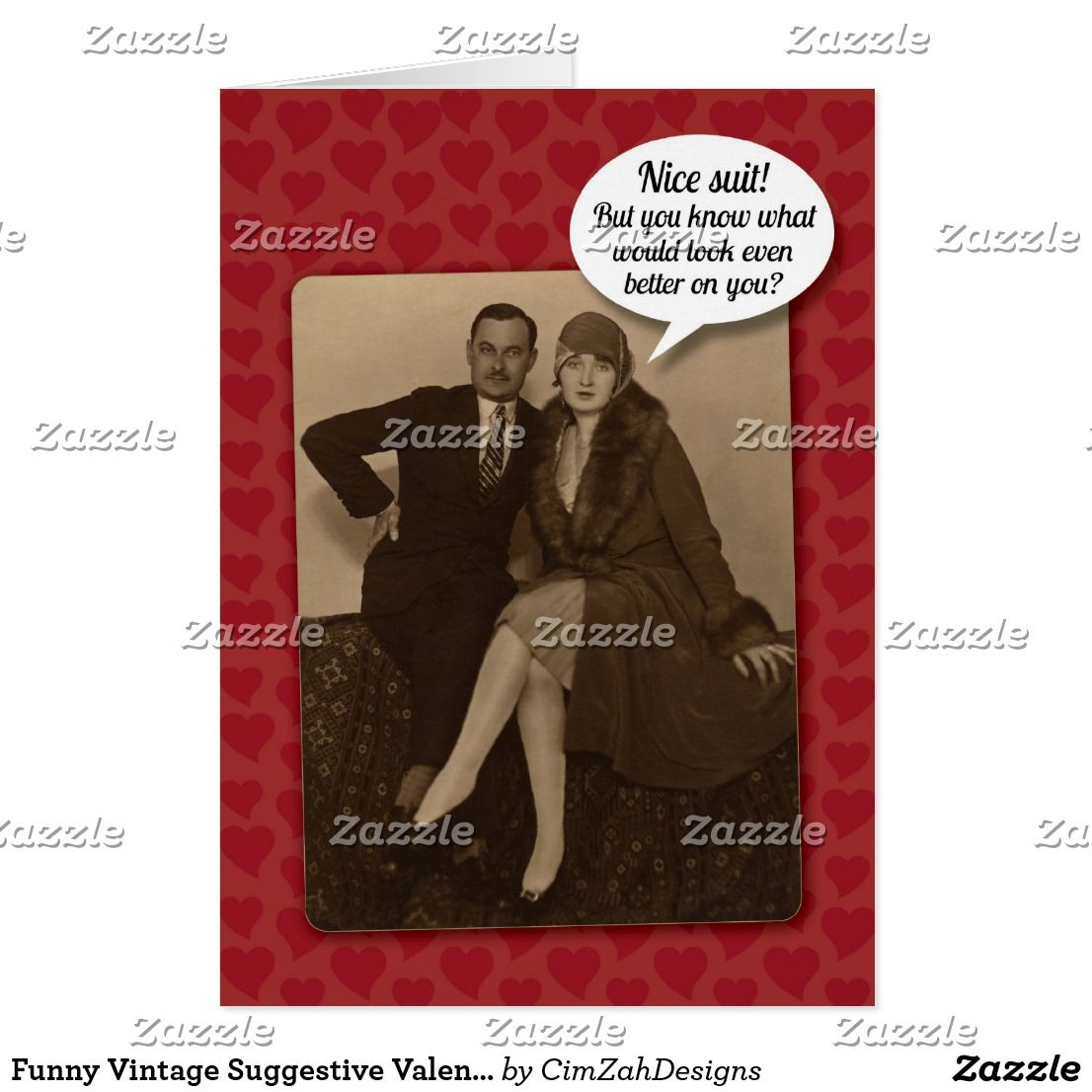 Funny Vintage Suggestive Valentine S Day Card Valentine S Day