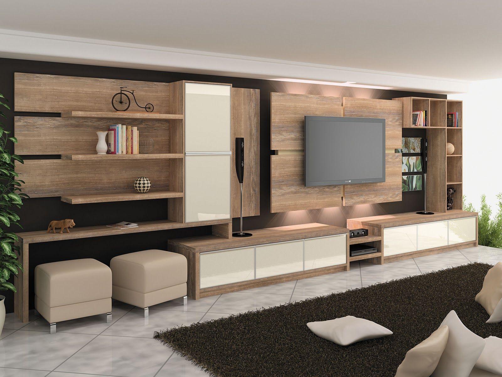 Medidas Para Sala De Tv ~ 30 tipos de moveis sob medida para sala  Cabinet design, 1 and Media