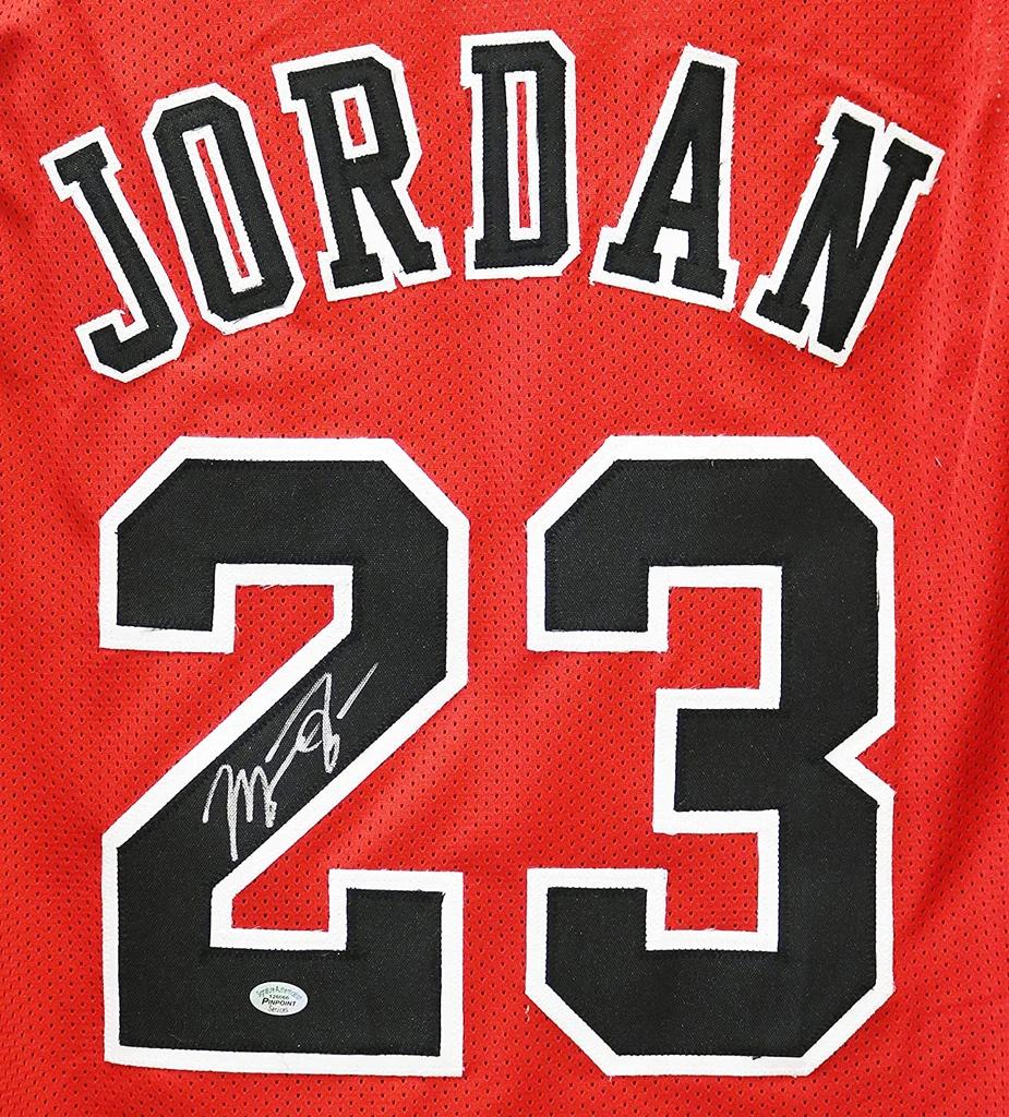 Michael Jordan Chicago Bulls Signed Autographed Red 23 Custom Jersey Sports Autog Arte De Michael Jordan Jordan Fondos De Pantalla Baloncesto Michael Jordan