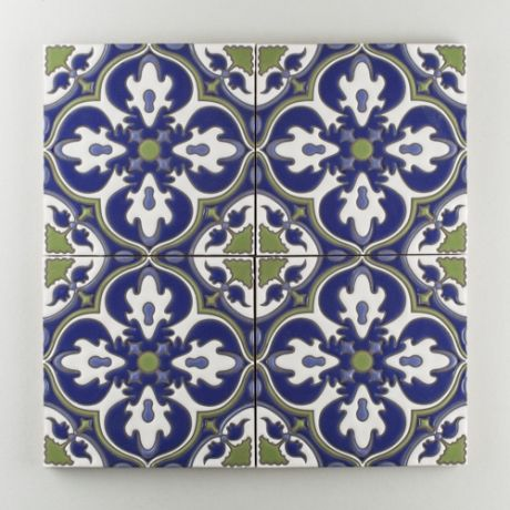 Spanish Decorative Wall Tiles The Mediterranean Handpainted Collection Barella In The Cool