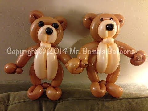 ▶ Teddy Bear Balloon Animal Tutorial (Balloon Twisting and Modeling #20 ) - YouTube