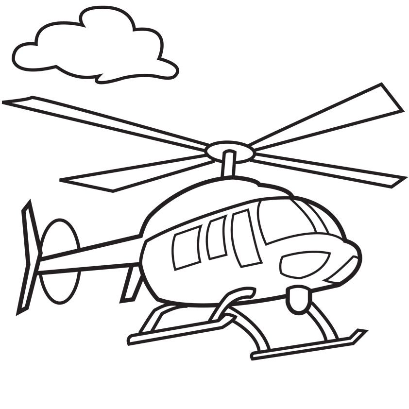 helicopter cartoon drawing Airplane coloring pages