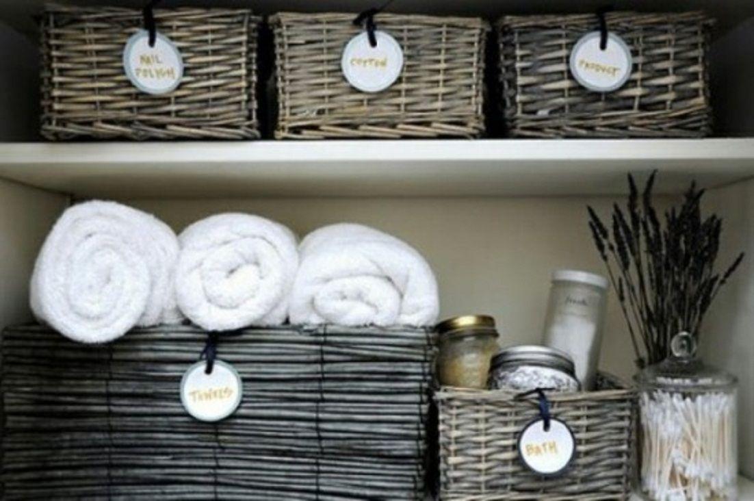 Wicker basket bathroom storage - Practical Bathroom Wicker Basket Storage Architectural Homes