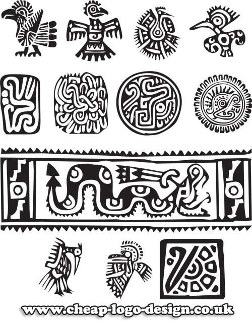 Aztec Symbols Useful For Logo Design Inspiration Cheap Logo