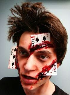 Poker face lol awesome | special effects makeup | Pinterest ...