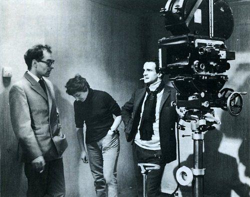Jean Luc Godard Suzanne Schiffman Francois Truffaut On The Set Of Fahrenheit 451 Francois Truffaut Jean Luc Godard French Cinema