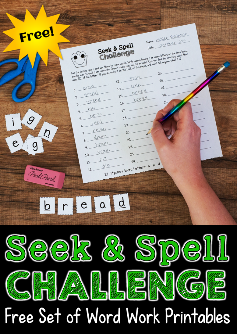 Free Set Of Word Work Printables From Laura Candlers Teaching