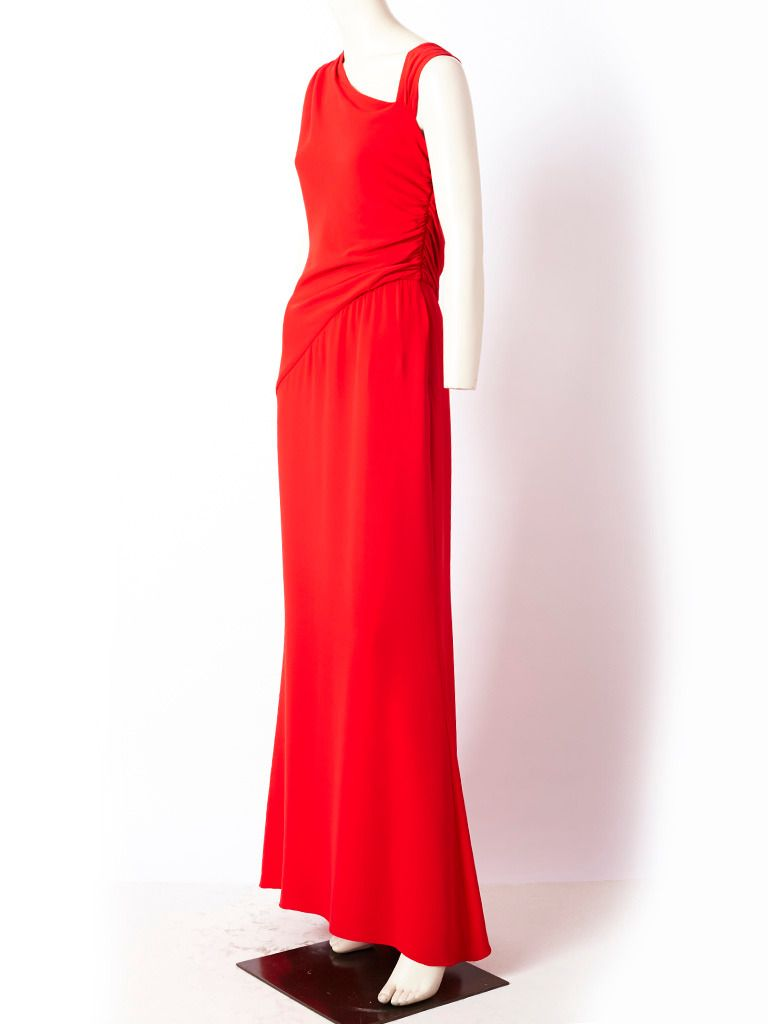 Valentino Evening Gown   Valentino   Pinterest   Gowns, Red silk and ...
