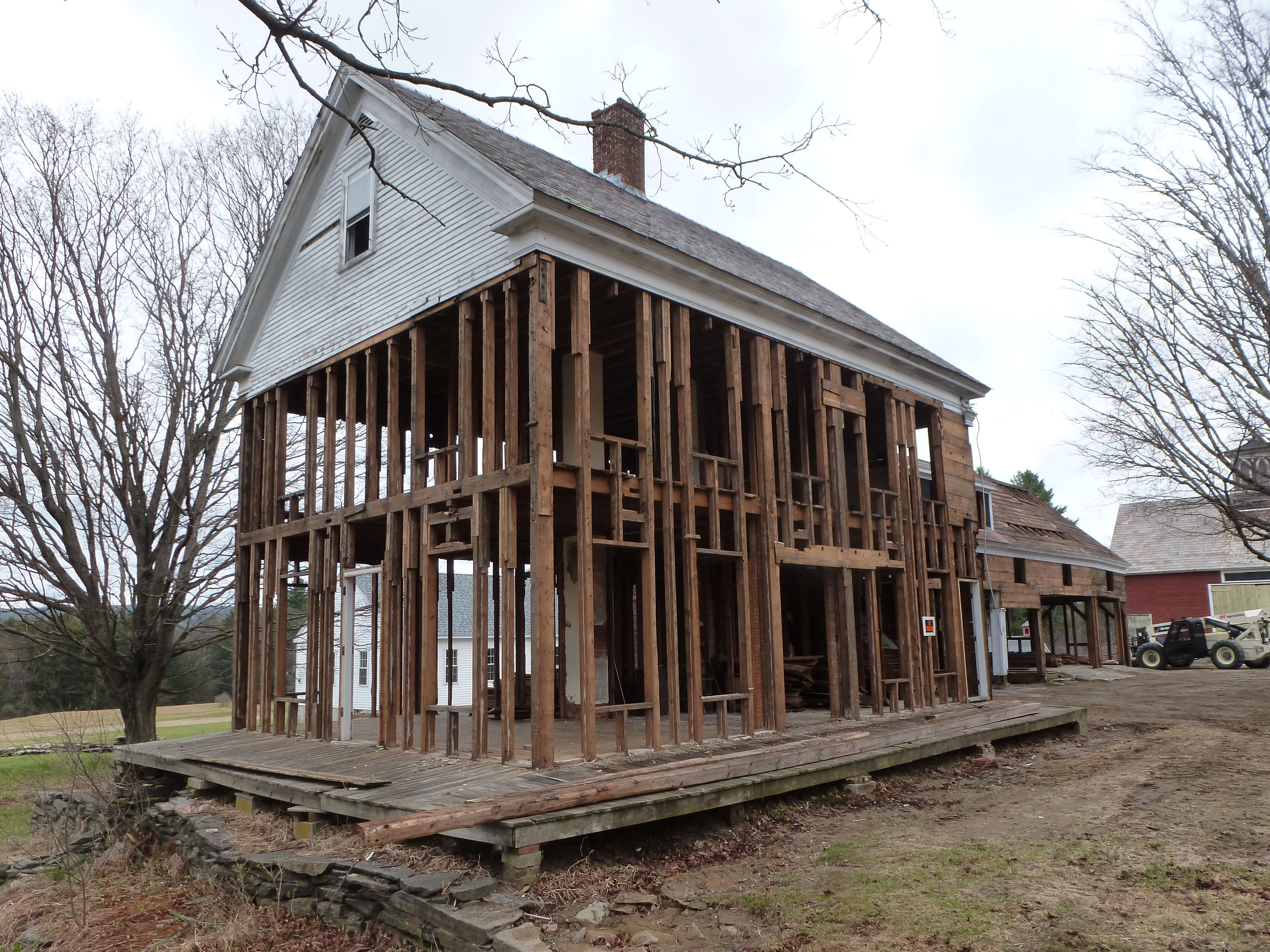 Balloon Frame Construction | Another Unity Home Rises on ...