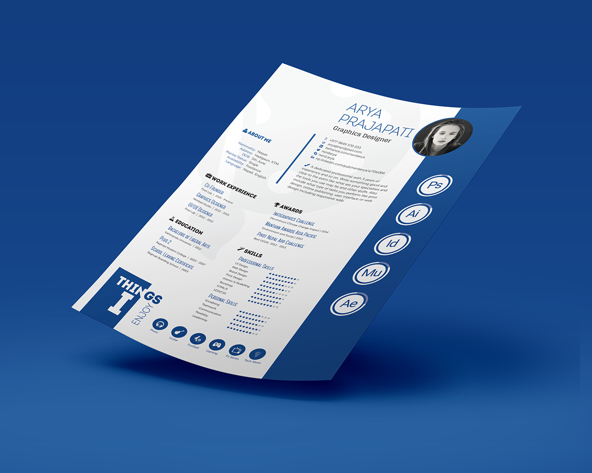 Free Resume Templates And Printing Showcase And Discover Creative Work On The World's Leading Online