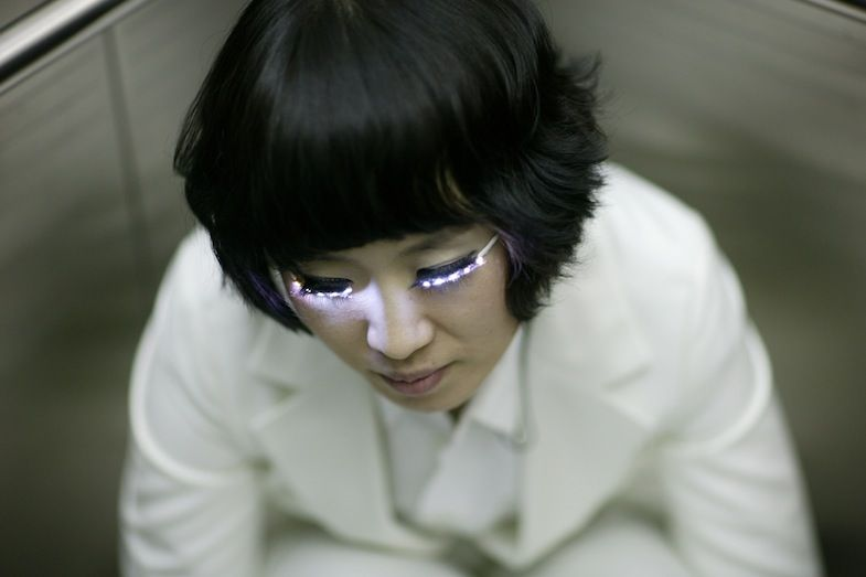 LED eyelashes. Because it's cool to destroy your retinas and optic nerves in the name of fashion.