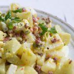 Köstlicher falscher Low Carb Kartoffelsalat mit Speck #lowcarbveggies