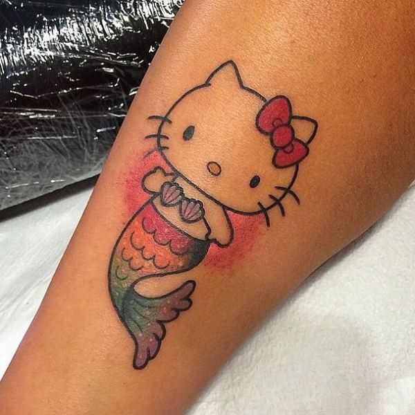 Creative Hello Kitty Tattoos You Wouldnt Expect (24 Photos